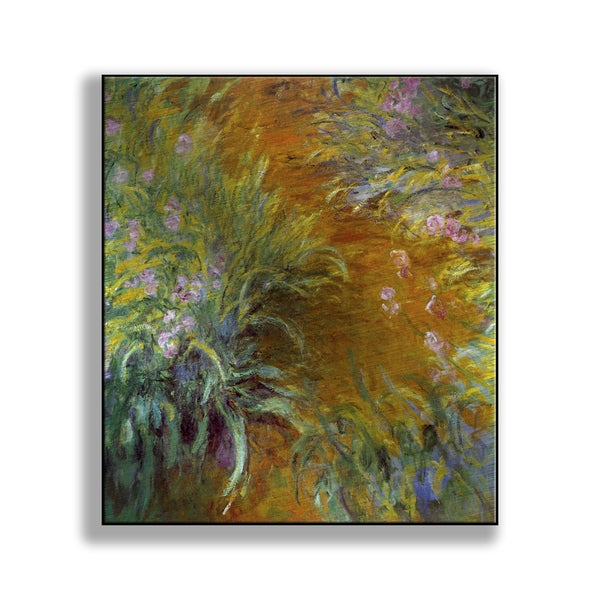 Claude Monet's 'The Path through the Irises' Print on Metal