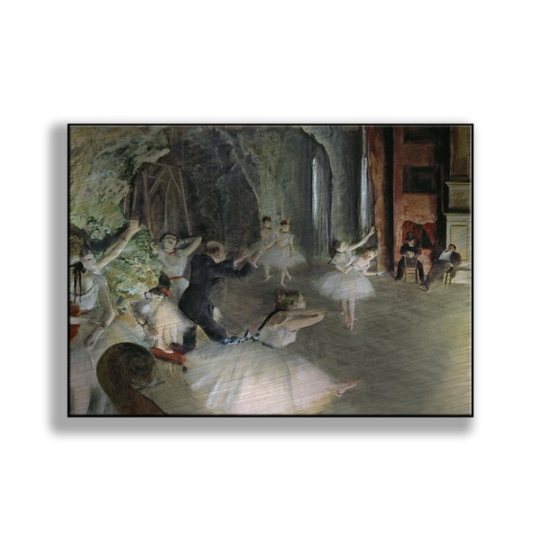 Edgar Degas' 'The Rehearsal of the Ballet on Stage' Print on Metal