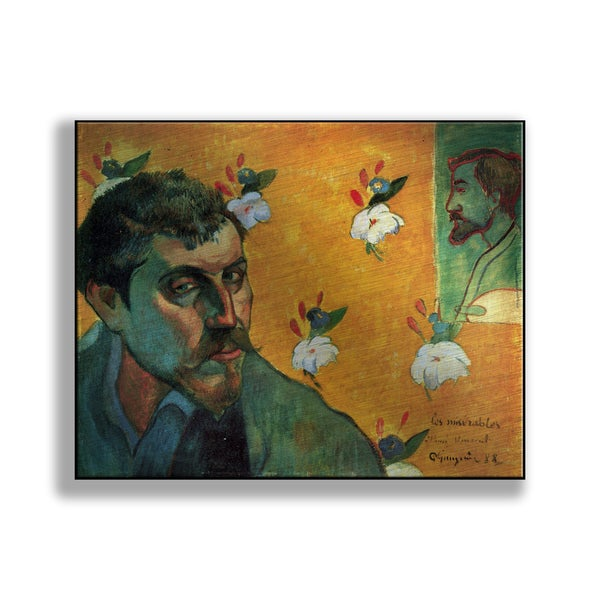 Paul Gauguin's 'Self-Portrait Dedicated to Vincent van Gogh (Les Miserables)' Print on Metal