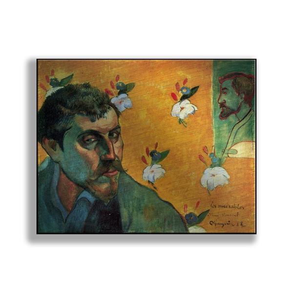 Paul Gauguin's 'Self-Portrait Dedicated to Vincent van Gogh (Les Miserables)' Print on Metal