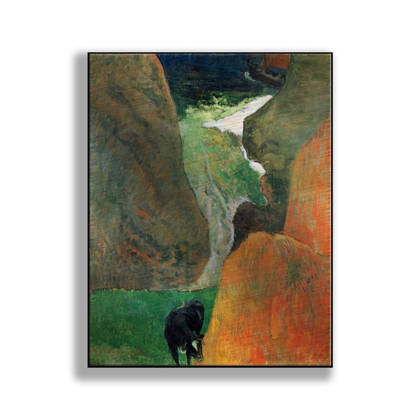 Paul Gauguin's 'Seascape with Cow on the Edge of a Cliff' Print on Metal