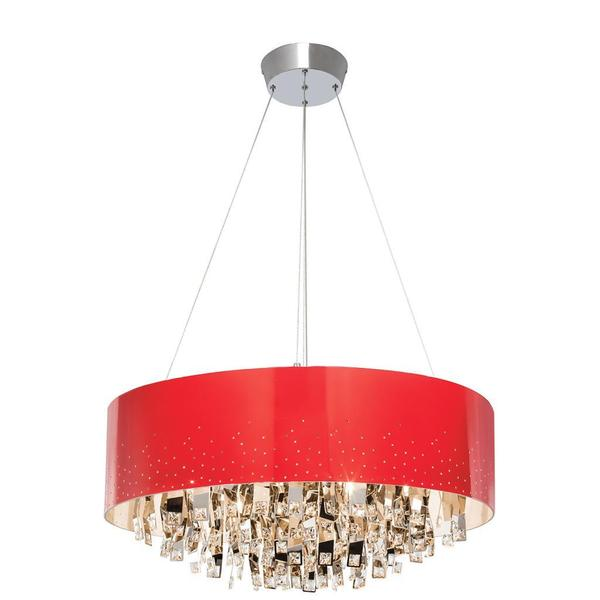 Kichler Lighting Vallo Collection Contemporary 12-light Chrome and Red Chandelier
