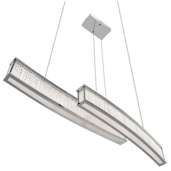 Kichler Lighting Contemporary LED Chrome Linear Chandelier