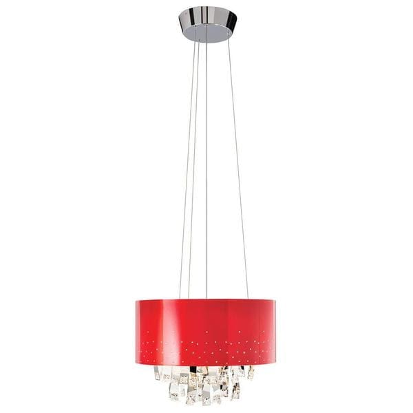 Kichler Lighting Vallo Collection Contemporary 6-light Chrome and Red Chandelier