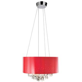 Kichler Lighting Vallo Collection Contemporary 7-light Chrome and Red Chandelier