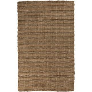 Hand-Woven Anika Stripe Pattern Jute Rug (10' x 14')