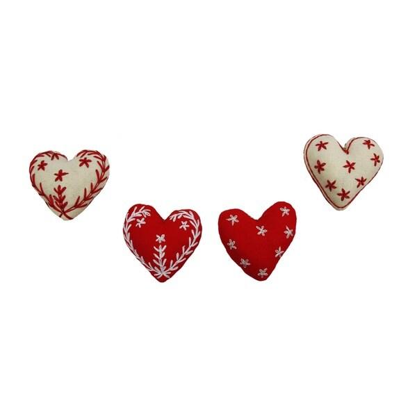 Embroidered Heart Ornaments (Bangladesh)