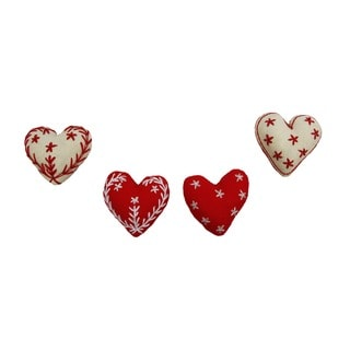Embroidered Heart Ornaments (Bangladesh)