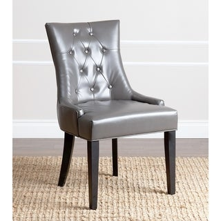ABBYSON LIVING Napa Grey Leather Dining Chair