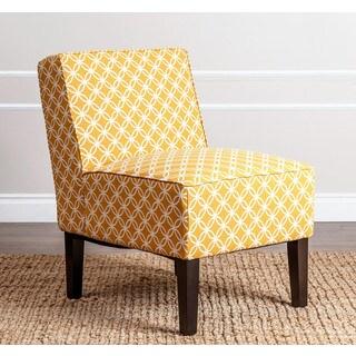 ABBYSON LIVING Sasha Mustard Yellow Fabric Slipper Chair