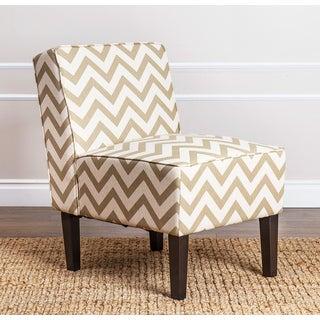 ABBYSON LIVING Sasha Gold Chevron Fabric Slipper Chair