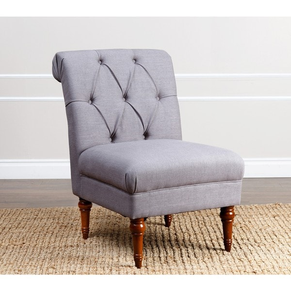 ABBYSON LIVING Alexis Grey Tufted Slipper Chair