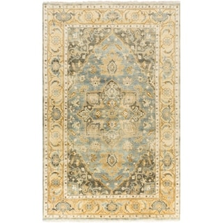 Hand-Knotted Cecilia Floral New Zealand Wool Rug (5'6 x 8'6)
