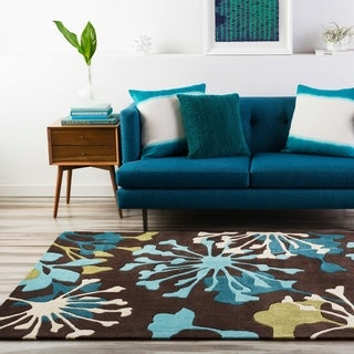 Hand-Tufted Elaina Floral Polyester Rug (8' Round)