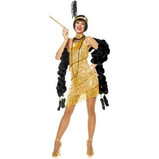 Women's Gold Flapper Costume Dress