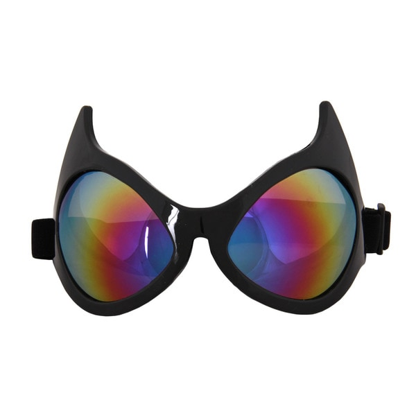 Cat Eye Black Frame Rainbow Lenses Goggles
