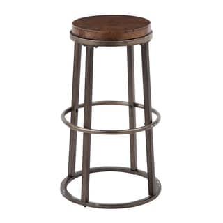 Signature Design by Ashley Glosco 30-inch Wood and Metal Bar Stool (Set of 2)