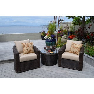 My Patio My Way Astoria 3-piece Swivel Balcony Chat Group Furniture Set