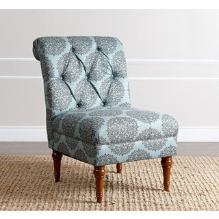 ABBYSON LIVING Alexis Floral Teal Tufted Slipper Chair