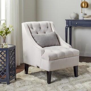 ABBYSON LIVING Laguna Ivory Tufted Swoop Chair