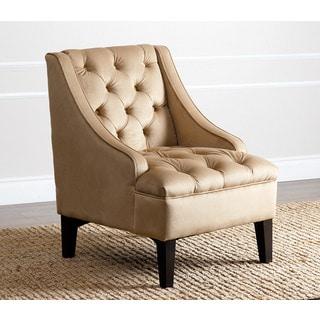 ABBYSON LIVING Laguna Camel Tufted Swoop Chair