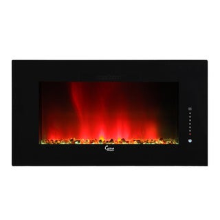 Caesar Luxury Linear Wall Mount Recess Freestanding 46-inch Electric Fireplace with Multi-color Flame