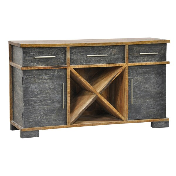 Kalinda 3-drawer/ 2-door Distressed Mango Wood Sideboard