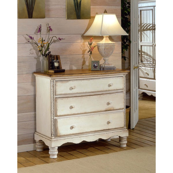 Wilshire Antique White Bedside Chest