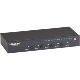 Black Box 4 x 1 HDMI Switch with 3.5-mm Audio & Serial Control