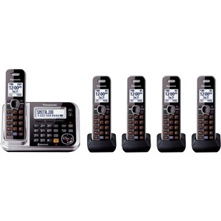 Panasonic KX-TG6845B DECT 6.0 1.90 GHz Cordless Phone - Black