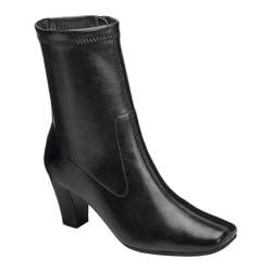 Women's Aerosoles Geneva Boot Black Faux Leather