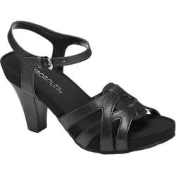 Women's Aerosoles Hearsay Heeled Sandal Black Faux Leather