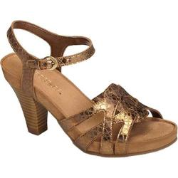 Women's Aerosoles Hearsay Heeled Sandal Bronze Snake Faux Leather