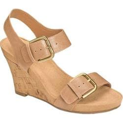 Women's Aerosoles Mega Plush Wedge Sandal Tan Faux Leather