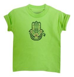 Boy's Hamza Hand Lime Green Short Sleeve Graphic Tshirt