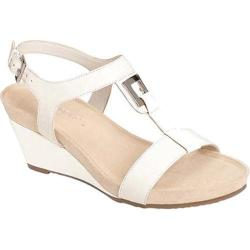 Women's Aerosoles Light Force Wedge Sandal White Faux Leather