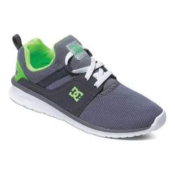 Girls' DC Shoes Heathrow Grey/White/Green