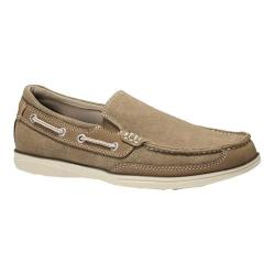 Men's Dockers Sycamore Slip On Boat Dark Taupe Soft Canvas
