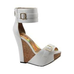 Women's Luichiny More N More Wedge Sandal White Imi Leather