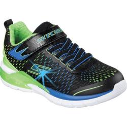 Boys' Skechers S Lights Erupters II Lava Arc Sneaker Black/Blue/Lime