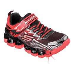 Boys' Skechers S Lights Flashpod Scoria Sneaker Red/Black