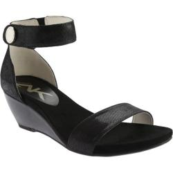 Women's Anne Klein Calbert Sandal Black/Black Leather