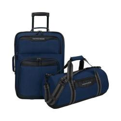 US Traveler Hillstar 2-Piece Casual Luggage Set Navy