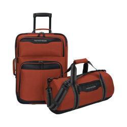 US Traveler Hillstar 2-Piece Casual Luggage Set Salmon