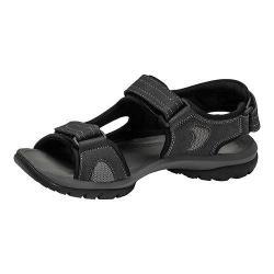 Men's Dockers Devon Active Sandal Black/Grey Distressed Mesh
