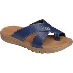 Women's Aerosoles Adjustment Sandal Dark Blue Faux Leather