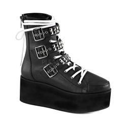 Women's Demonia Grip 101 Ankle Boot Black Vegan Leather