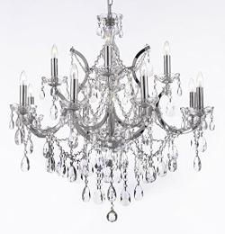 Maria Theresa Crystal Chandelier Lighting Chrome Finish H30 x W28