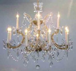 Chandelier Crystal Gold H22 x W28