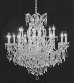 Swarovski Crystal Trimmed Crystal Chandelier Lighting H38 x W37